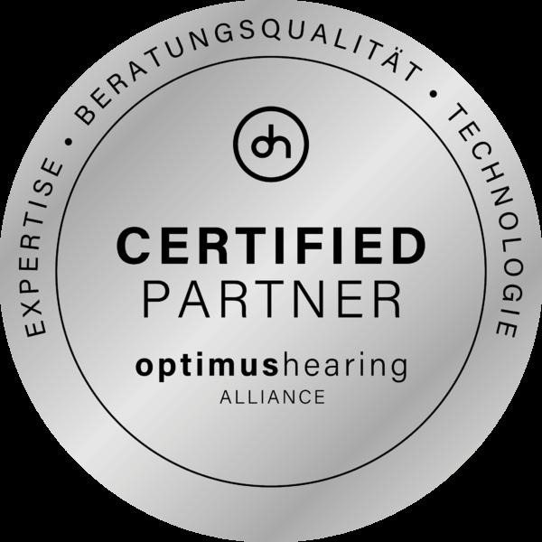 Optimus Hearing Zertifikat